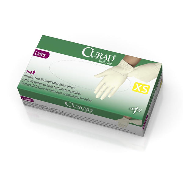 CURAD® Powder-Free Textured Latex Exam Gloves
