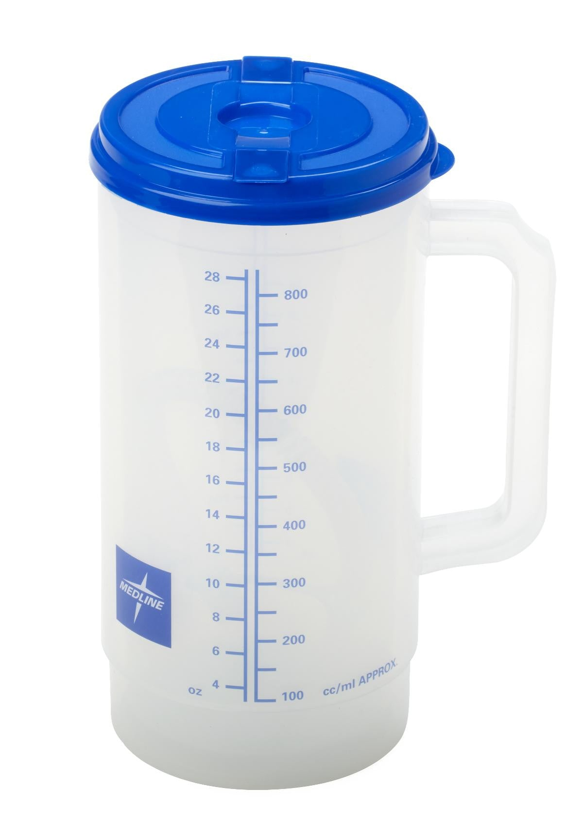 CARAFE,INSULATED,CLR,GRAD,BLUE LID,32 O