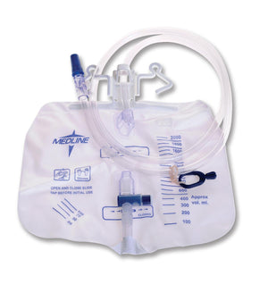 Urinary Drain Bags |  Slide Tap | Anti Reflux Tower