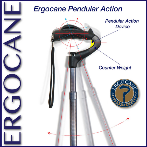 Image of Ergocane Fully- Adjustable Ergonomics Cane