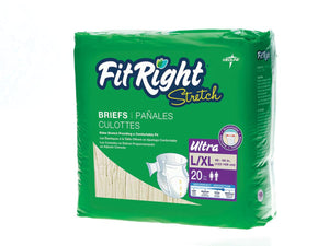 FitRight Stretch Ultra Brief LARGE / XLARGE (80 Count)