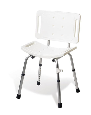 Basic Shower Chair with Back 250 LB CAP