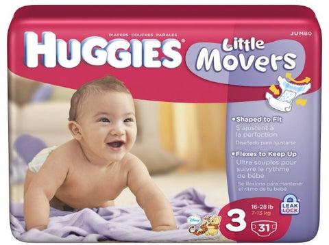Image of Huggies Little Movers Diapers by Kimberly-Clark