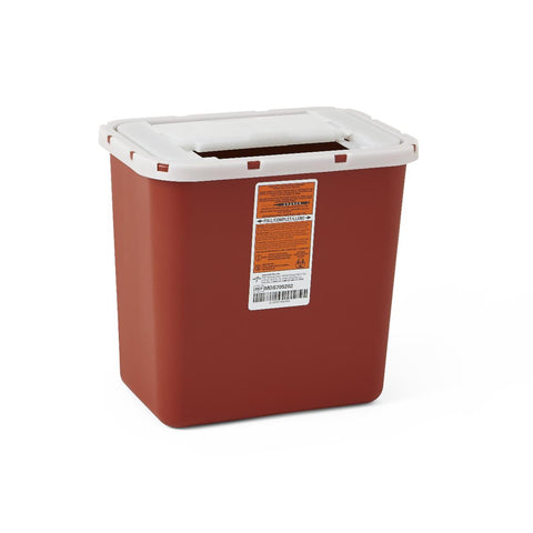 CONTAINER,SHARPS,2 GAL.,RED,WALL/FREE