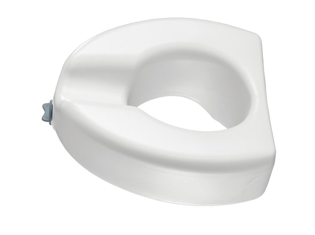 Elevated Locking Toilet Seat with Lock, without Arms