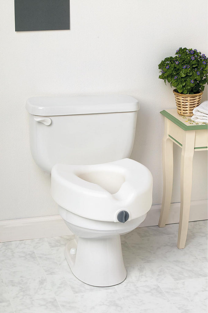 SEAT,TOILET,LOCKING,ELEVATED,W/O ARMS
