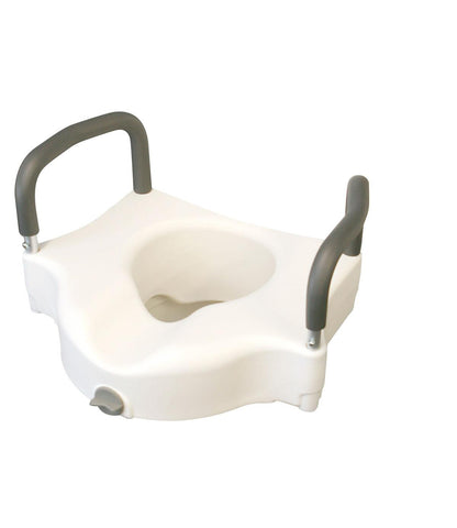 SEAT,TOILET,LOCKING,ELEVATED,W/ARMS