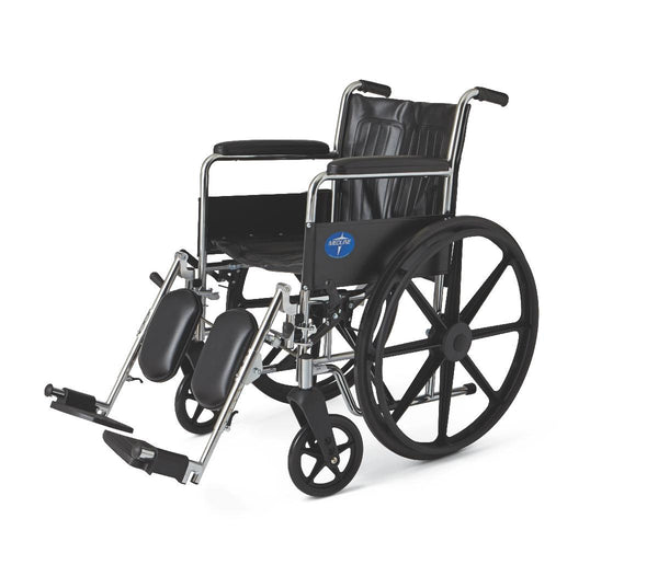 "WHEELCHAIR,EXCEL,18 "",PERM ARM,ELR,BLK"