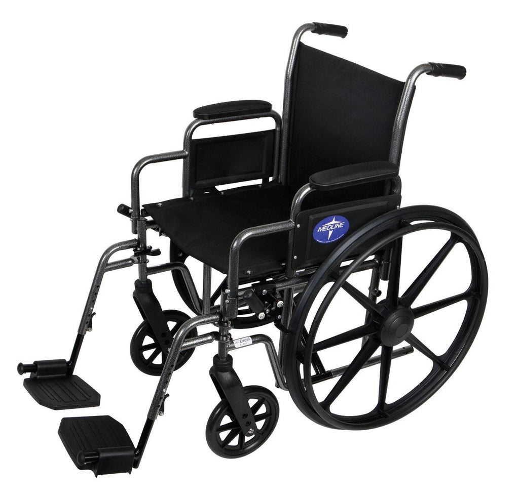 "K1 Basic Extra-Wide Wheelchairs | 20"" Width 