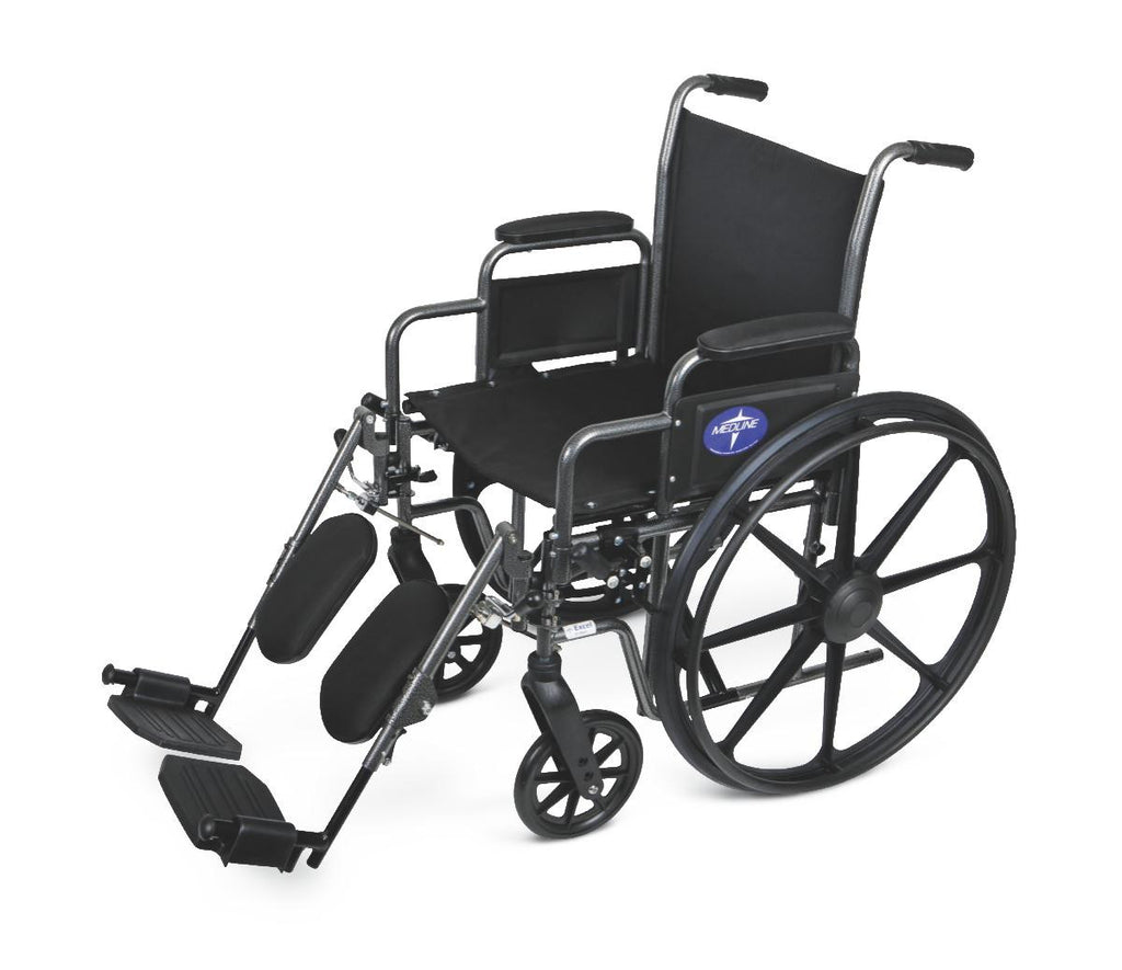 WHEELCHAIR,20IN,K1,BASIC,DLA,ELEV LEG