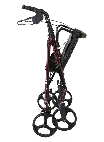 Standard Bariatric Heavy Duty Rollator,Burgundy, 1 Count