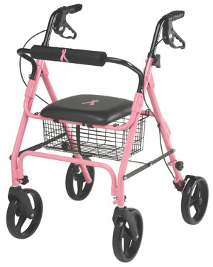 ROLLATOR, PINK, BREAST CANCER AWARENESS