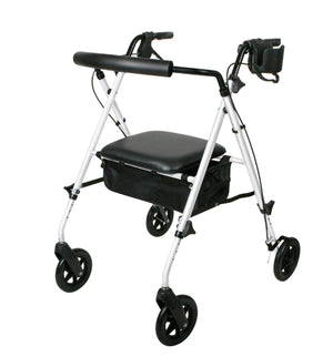 ROLLATOR,LUXE,WHITE