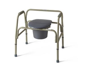 COMMODE,EXTRA WIDE,24IN WIDE,650 LB CAP