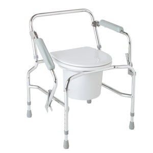 COMMODE,DROP ARM,CHROME PLATED,STEEL