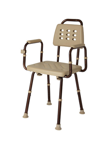 ELEMENTS SHOWER CHAIR WITH BACK,MICR, 1 Count
