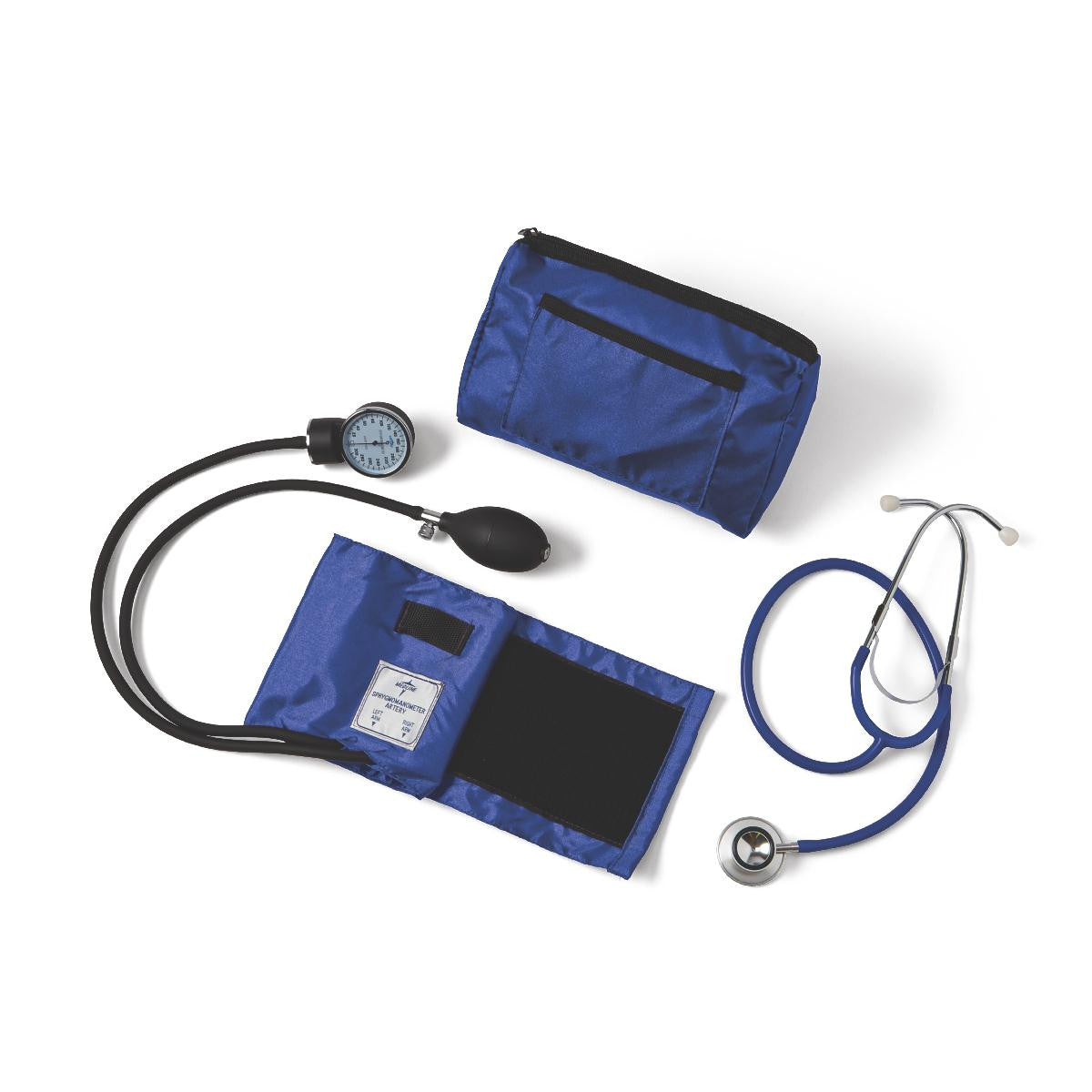 Compli-Mates Dual Head Aneroid Sphygmomanometer Combination Kits with Aneroid Sphygmomanometer and a Dual-Headstethoscope ROYAL BLUE (1 Count)