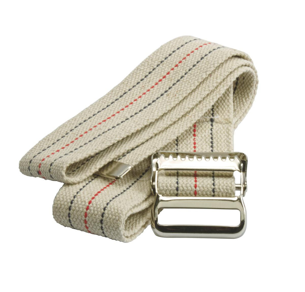 "Washable Cotton Material Gait Belts 72"" with Metal Buckel (1 Count)"