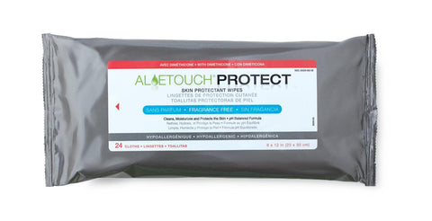 Aloetouch PROTECT dimethicone wipes softpack
