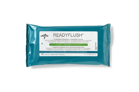 READYFLUSH, WIPES, SCENTED, 24/PACK