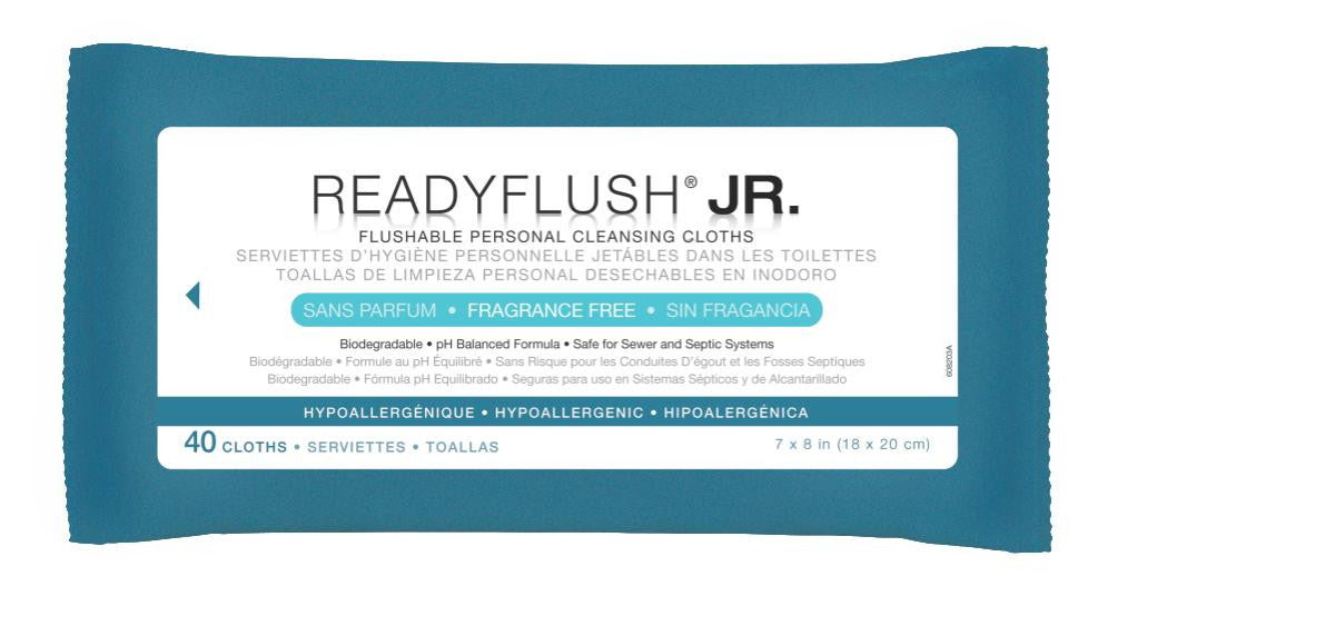 ReadyFlush® JR Biodegradable Flushable Wipes (40 Count)