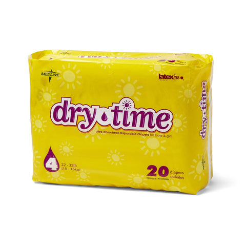 Image of DryTime Disposable Baby Diapers | White
