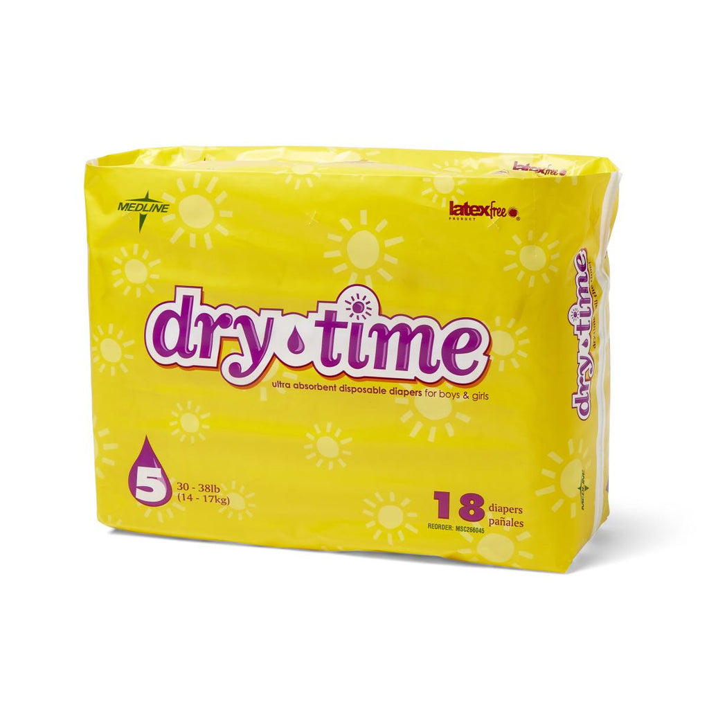 DryTime Disposable Baby Diapers | White
