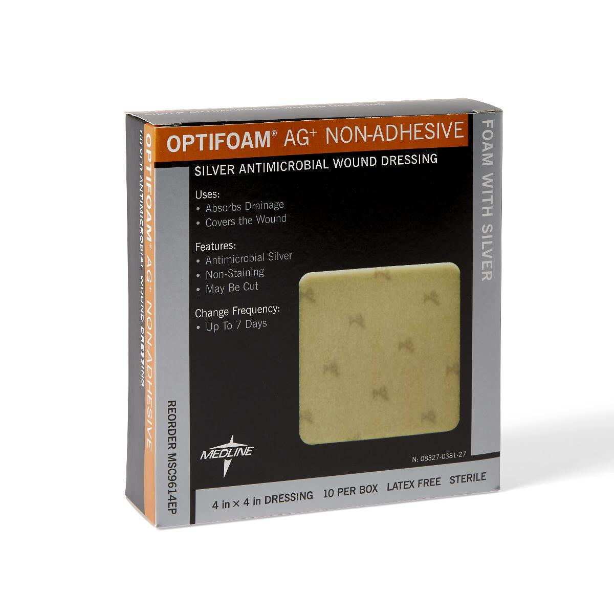 "DRESSING,OPTIFOAM NON-ADHESIVE AG,4""X 4"""