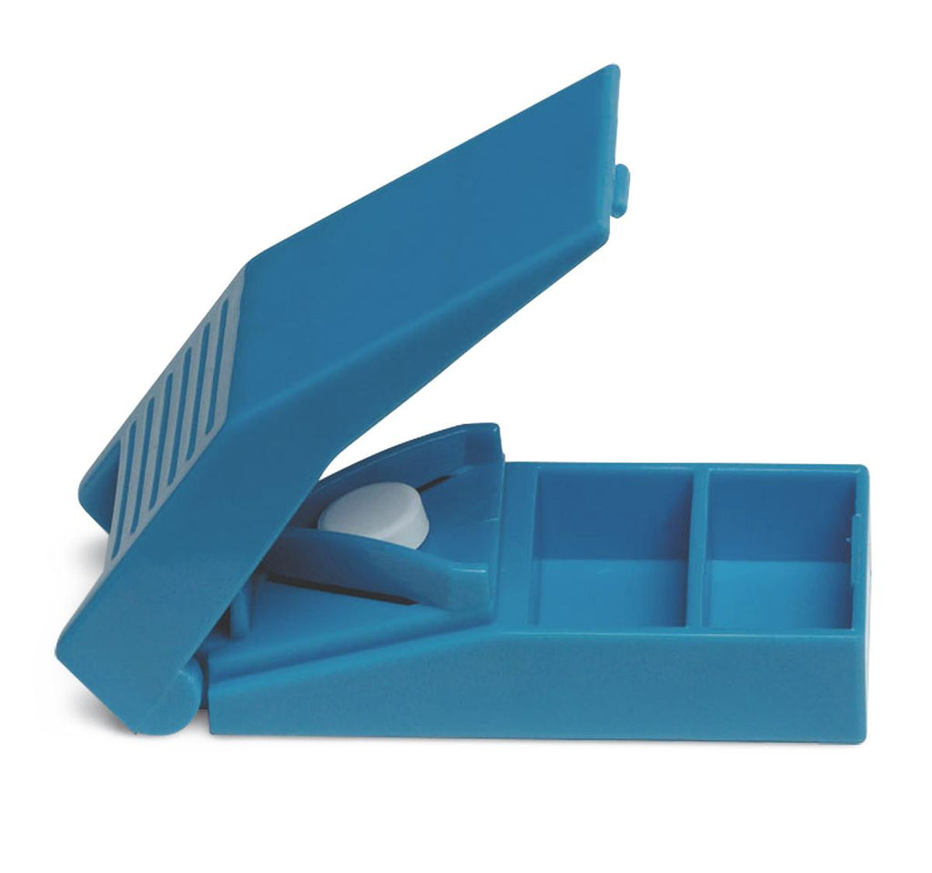 SPLITTER,PILL,BLUE,INDIVIDUALLY BOXED