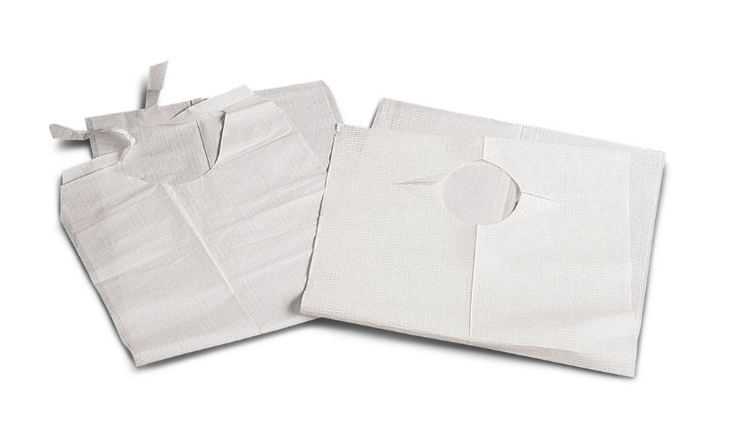 "White Disposable Slip-On Adult Bibs 19""X35"" (150 Count)"