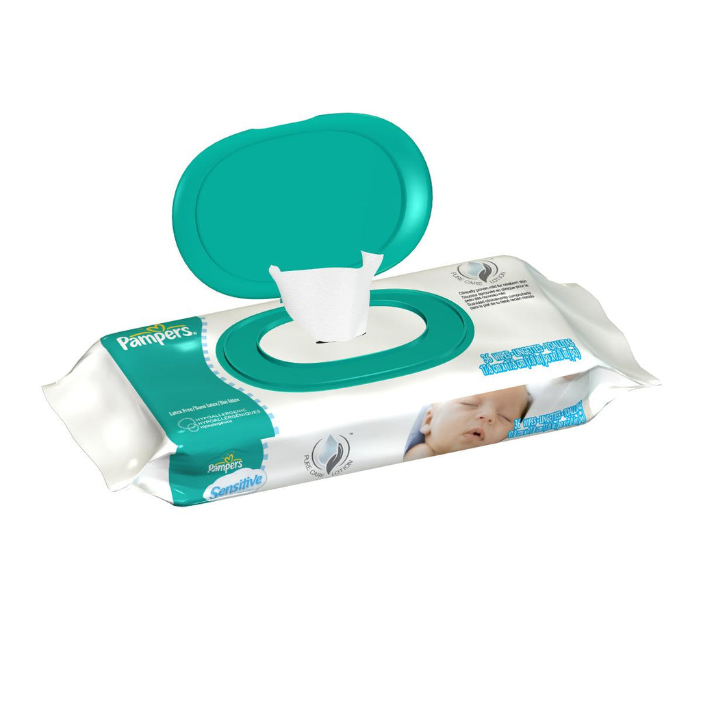 Pampers Sensitive Baby Wipes, Unscented