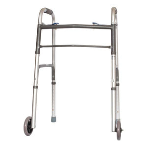 Folding Walker with Wheels (case of 4)