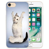 Yoga Cats & Dogs Hard Transparent Phone Case Cover