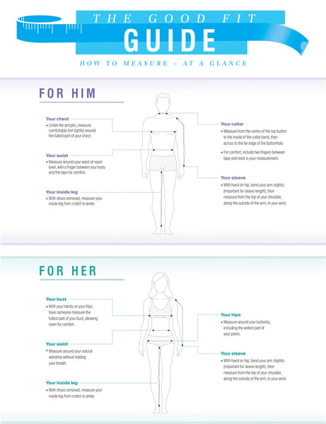 CheriAmore Handy Size and Fit Guide