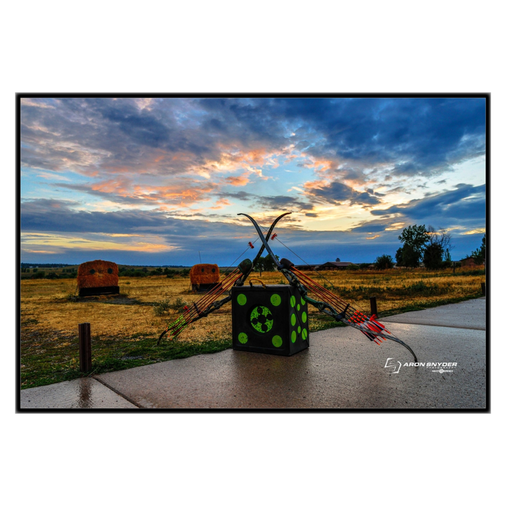 Duel at Dawn - Framed Canvas Standout