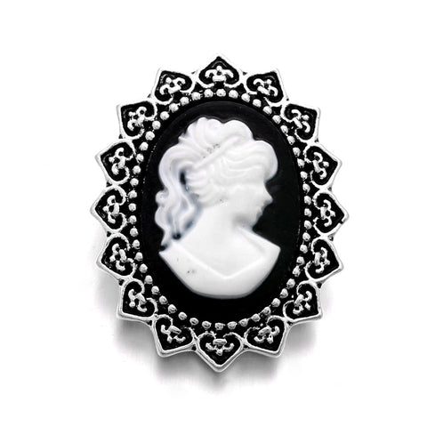 Antiqued Cameo Snap