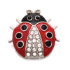 Image of ladybug snap essential oil snap the oily amulet aromatherapy jewelry