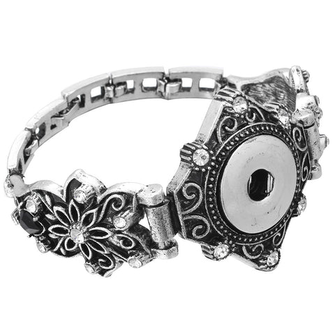 bracelet flower snap essential oil snap the oily amulet aromatherapy jewelry