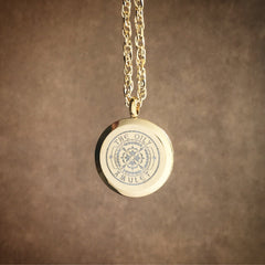 Sun Weaver Exclusive Design No.8 - Gold Stainless Steel Diffuser Necklace