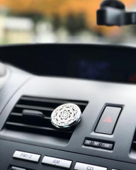 Mandala Exclusive Design No.6 - Silver Stainless Steel Car Diffuser