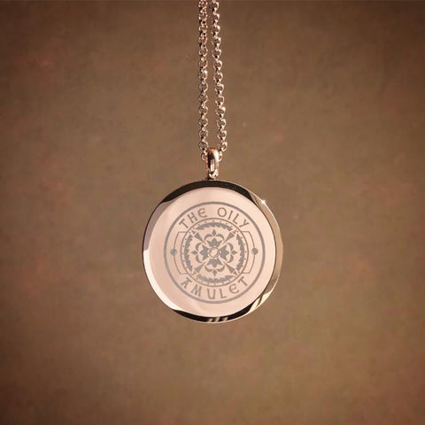 tree of life Essential Oil Aromatherapy Stainless Steel Diffuser Necklace The Oily Amulet Rose Gold