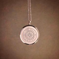Mandala Exclusive Design No.6 - Rose Gold Stainless Steel Diffuser Necklace
