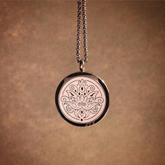 LOTUS Essential Oil Aromatherapy Stainless Steel Diffuser Necklace The Oily Amulet Chocolate Copper