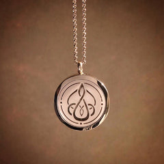 Mother Child Essential Oil Aromatherapy Stainless Steel Diffuser Necklace The Oily Amulet Rose Gold