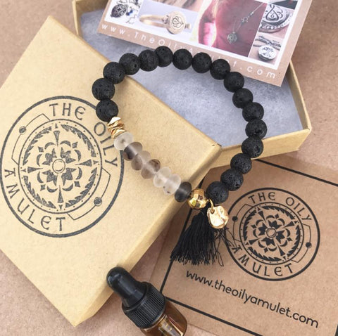 essential oil lava diffuser bracelet aromatherapy jewelry chakra bracelet black rutilated quartz meditation mala