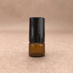 1/4 Dram - 1ml - Amber Glass Roller Bottle with Stainless Steel Roller Ball