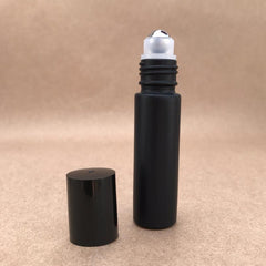 Black Essential Oil Roller Bottle Stainless Steel Roller Ball The Oily Amulet Aromatherapy
