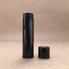 10 PACK - .15oz - Black Lip Balm Tubes DIY