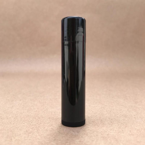 DIY Lip Balm Tube Black essential oil lip balm plastic the oily amulet