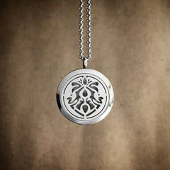 Art Nouveau Infinity No.5 - Stainless Steel Diffuser Necklace